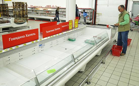 Поставки товаров в торговые сети заморожены из-за обвала рубля